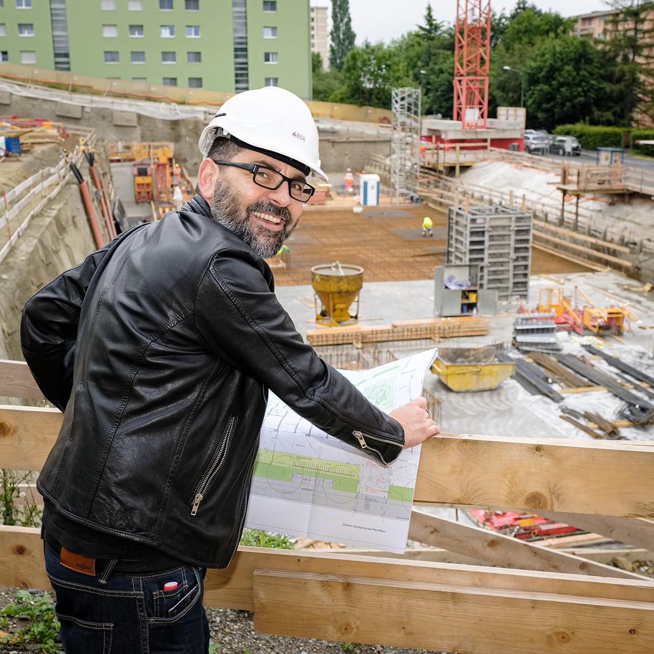La construction au Chemin de Pierrefleur (quartier Le Désert) avance bon train: la mise en location de 70 logements est prévue au printemps 2022.